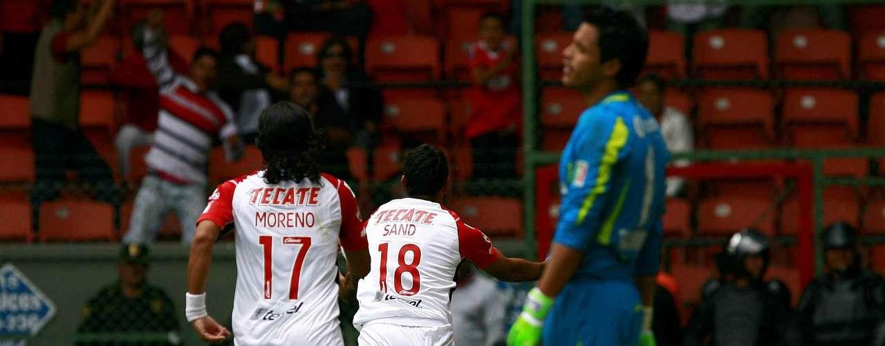 Cuando parecía que Tijuana se quedaría con la victoria, José Sand remató de cabeza un centro de Richard Ruiz y empató el partido.