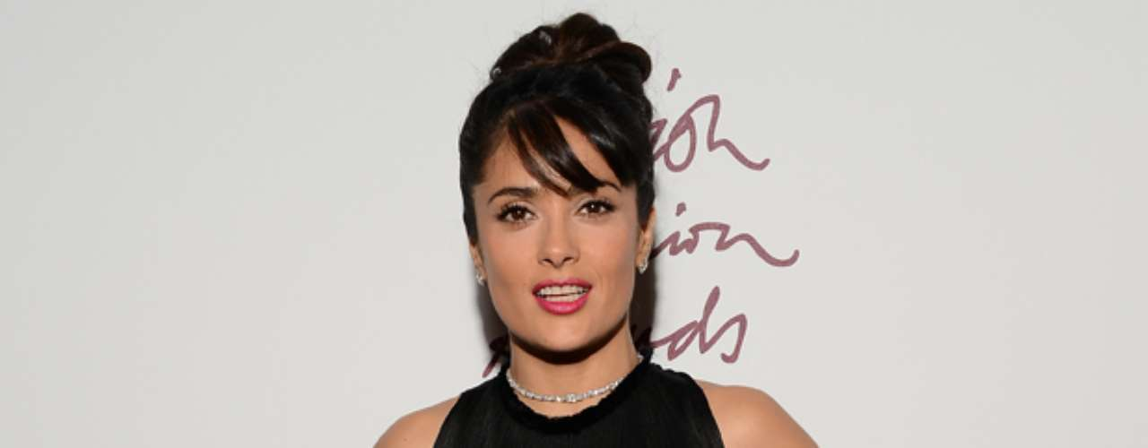 Salma Hayek shimmered down the red carpet of the 2012 British Fashion Awards.