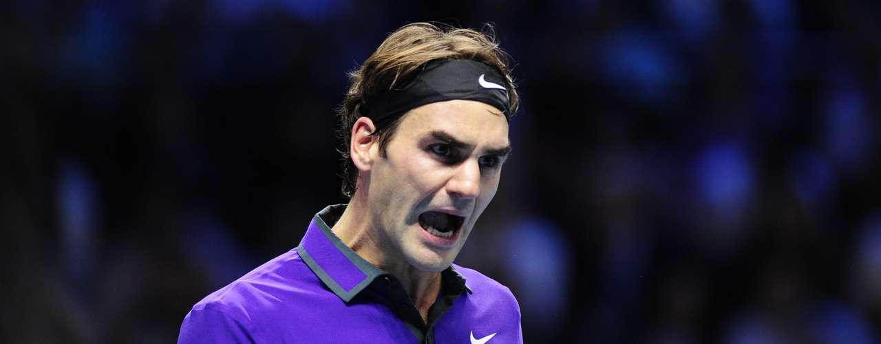 La imagen que le dio la vuelta al mundo, el suizo celebrando un punto sobre Djokovic en las finales de las Barclays ATP World Tour. Con 31 años cumplidos el 8 de agosto, el suizo aparecía y aún permanece como el más veterano del top ten.