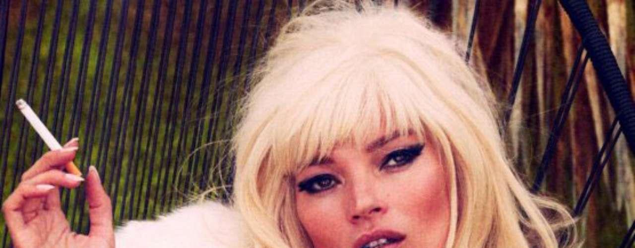 Vanity Fair no se privó de retratar a una de las madres más bellas. Kate Moss tiene a Lila Grace, nacida en 2002