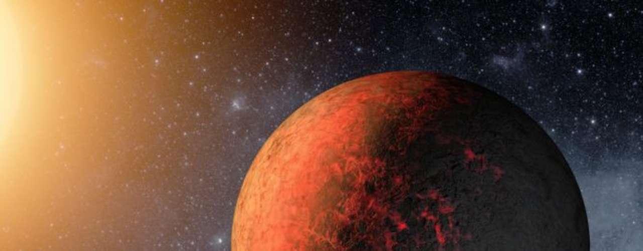 Los planetas varían en tamaño desde una y medio veces el radio de la Tierra hasta un poco más que Júpiter, que es el mayor planeta del Sistema Solar.
