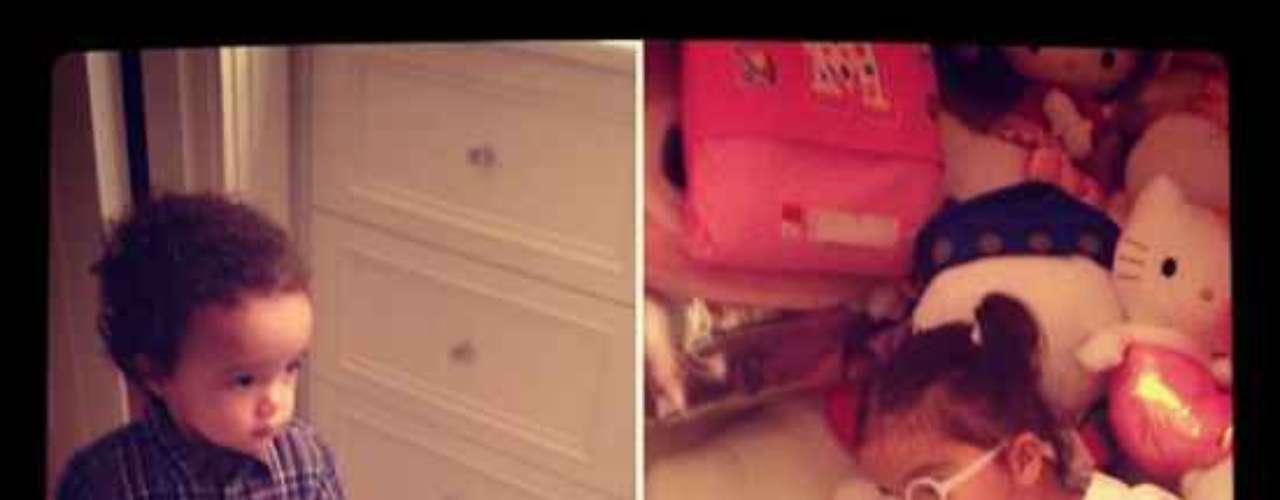 Mariah Carey publicó fotos de los gemelos Moroccan Scott Cannon y Monroe Cannon , en la red social Instagram.\