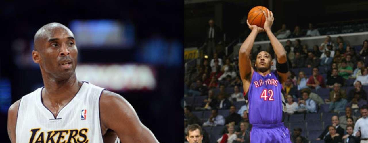 Kobe Bryant, está empatado con Donyel Marshall, de los Raptors de Toronto, por el récord de más tiros de tres puntos anotados en un partido con 12. Bryant lo hizo el 7 de enero del 2003 ante los SuperSonics de Seattle, anotando 12 de sus 18 intentos. Mientras que Marshall lo hizo ante los 76ers de Filadelfia el 13 de marzo del 2005, marcando en 12 de 19 intentos.