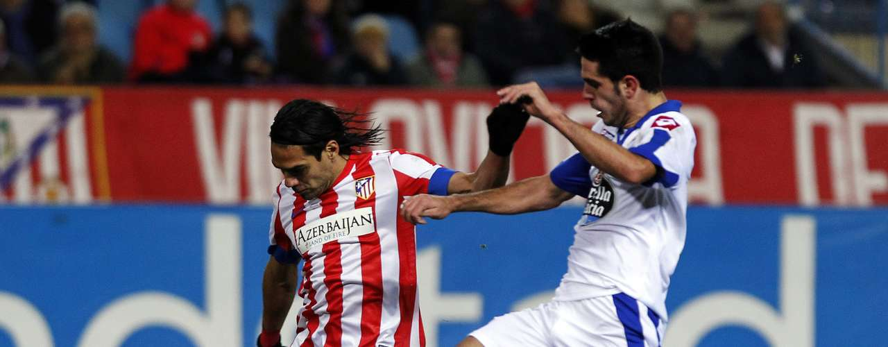 Then Falcao completes one of his best peformances with Atletico, scoring his fifth goal.