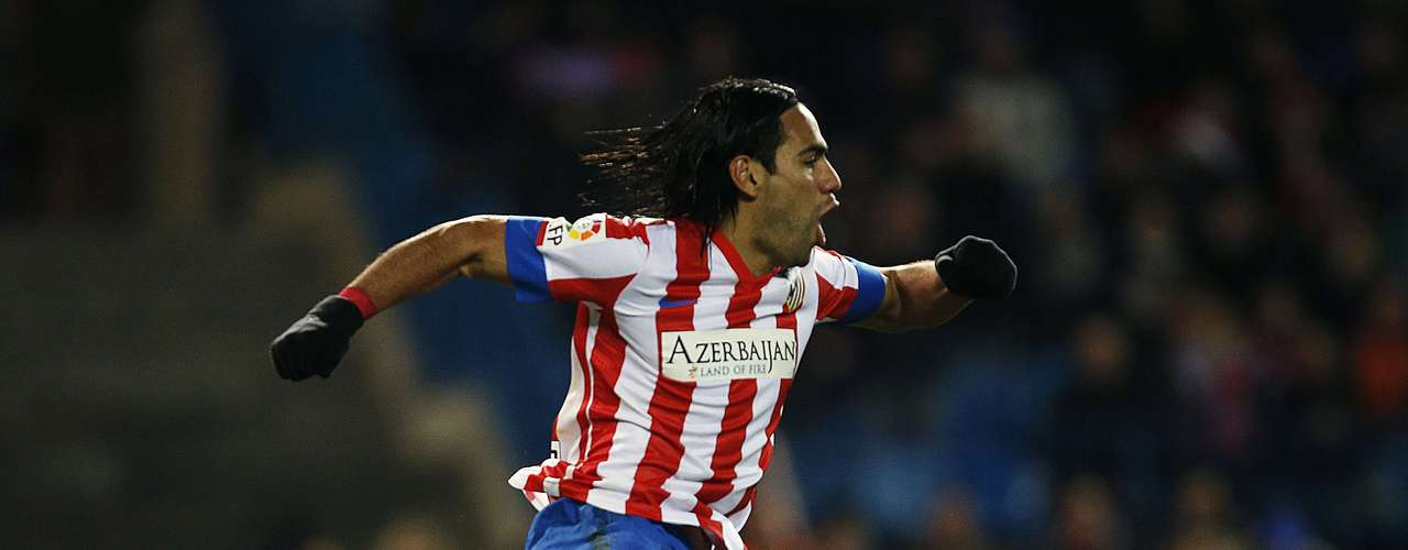 Radamel Falcao celebrates his goal.