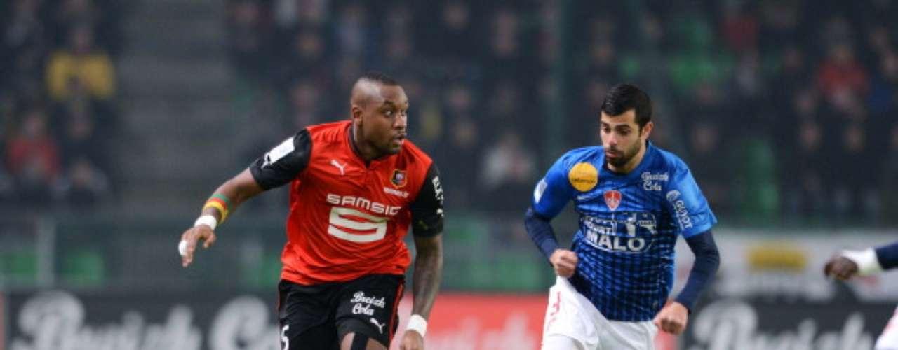 Rennes empató 2-2 frente a Brest.