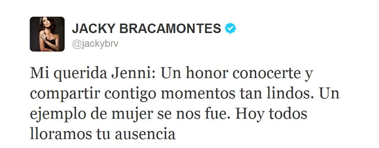 Jacqueline Bracamontes, conductora de 'La Voz... México 2' aseguró que siempre recordará a Jenni Rivera como una gran amiga.