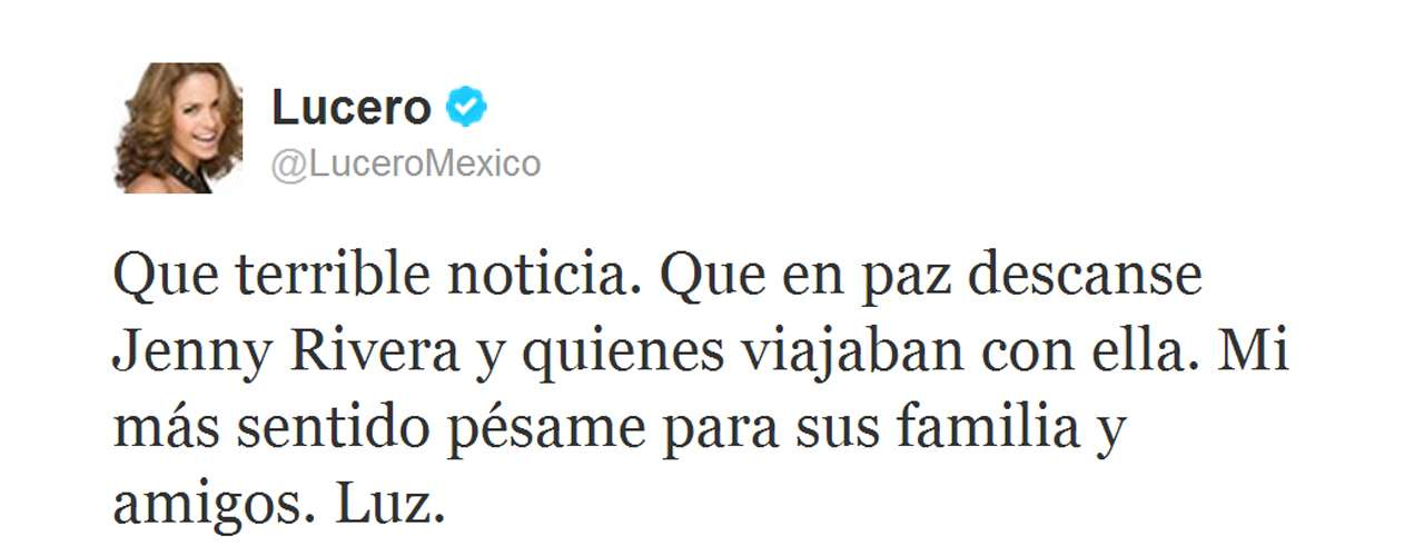 Here's how Lucero reacted to the news.