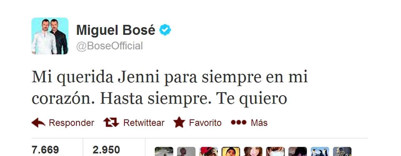 Miguel Bosé, muy afectado, aseguró que siempre recordará a Jenni Rivera, con quien coincidió en'La Voz... México 2'.