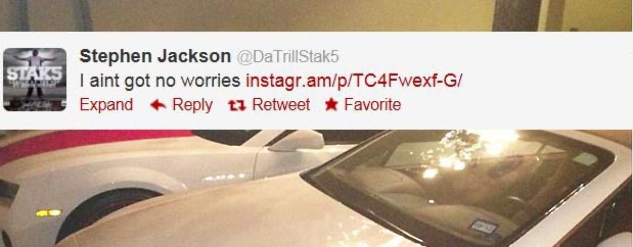 Stephen Jackson got in some hot water last week for a tweet helater deletedthat threatened Oklahoma City center Serge Ibaka. And he tweeted various photos like this one to his 'haters' on social media.