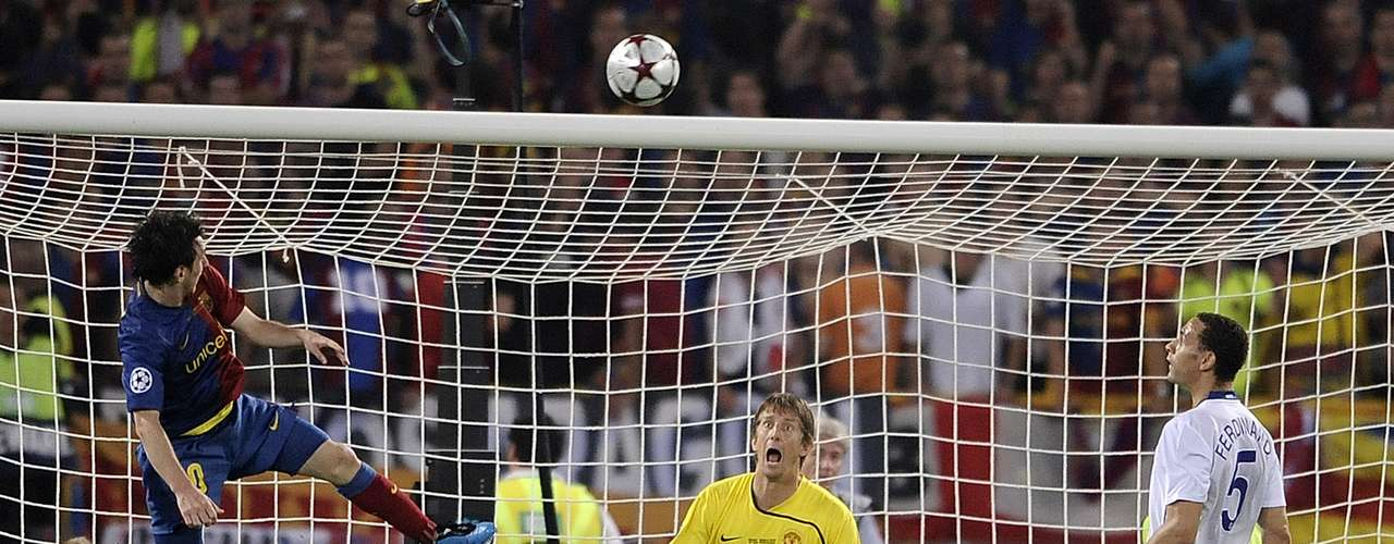 In 2009, Barcelona won the Champions League over Manchester United with Messi scoring the 2nd goal on a header. The goal sealed the victory and also quieted talk that Messi was unable to score with his head.