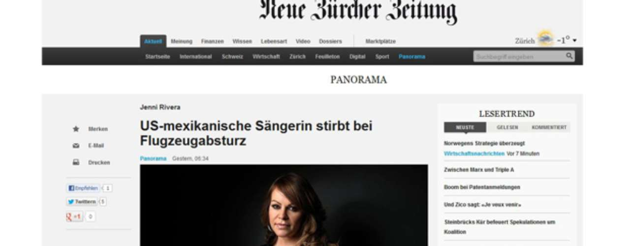 This German newspaper dedicated the front page of its Entertainment section to La Gran Señora.