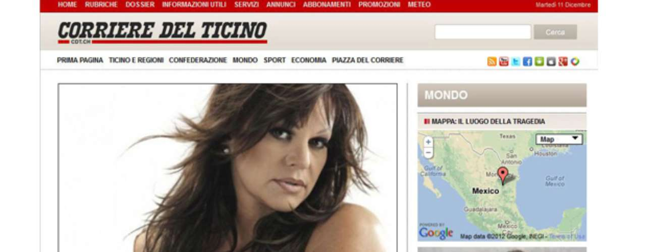 Italy's El Corriere del Ticino posted this story on its homepage.
