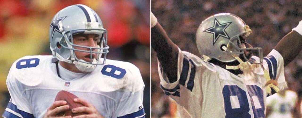 Troy Aikman y Michael Irvin ganaron tres Super Bowls juntos en Dallas en las ediciones XXVII, XXVIII y XXX. Aikman fue el Jugador Más Valioso de la edición XXVII, después de completar 22 de 30 pases para 273 yardas y 4 touchdowns. Irvin también tuvo su mejor juego en el XXVII, atrapando seis pases para 114 yardas y 2 touchdowns.