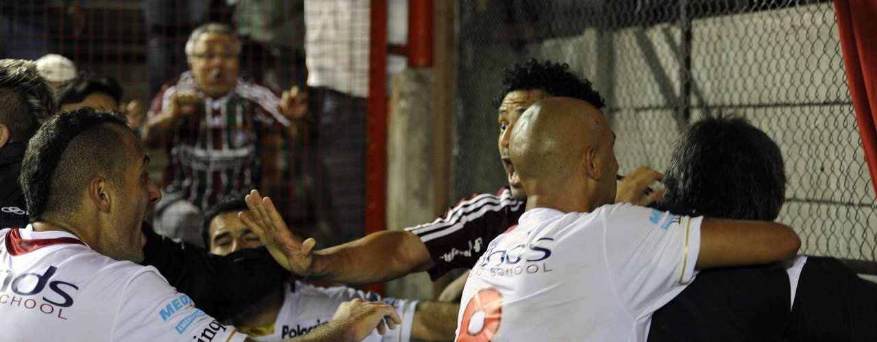 On April 11, 2011, players from Argentinos Juniors and Fluminense, got into a brawl in a Copa Libertadores group game in Buenos Aires.