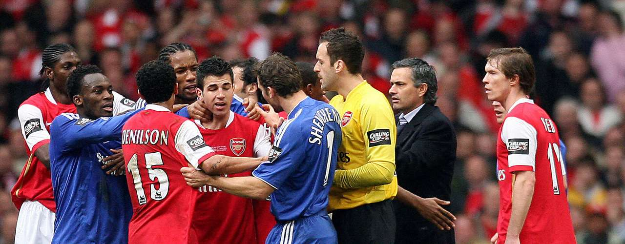 On February 25, 2007, Chelsea and Arsenal got in a brouhaha during the final of the Carling Cup.