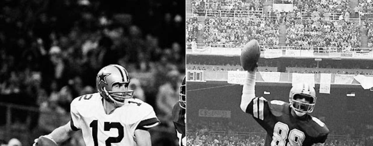 Roger Staubach y Drew Pearson jugaron en tres Super Bowls juntos, ganando la edición XII contra los Broncos de Denver. Staubach lanzó para 183 yardas y un touchdown en el partido, mientras que Pearson atrapó dos pases para 59 yardas y un touchdown en X, y añadió 73 yardas en cuatro recepciones en otra derrota ante los Steelers en el XIII.