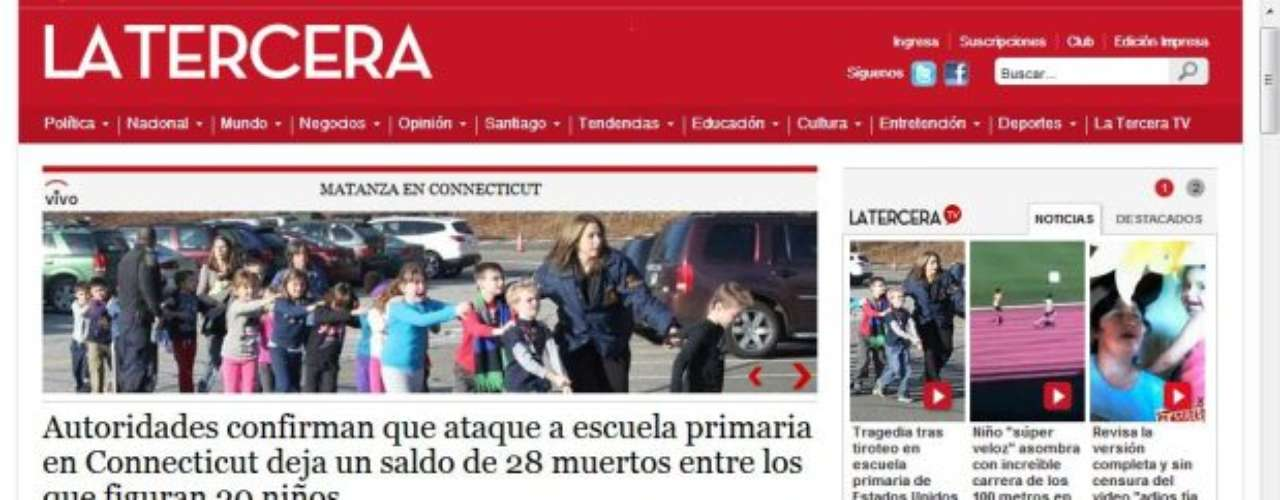 Portada del Diario La Tercera de Chile.