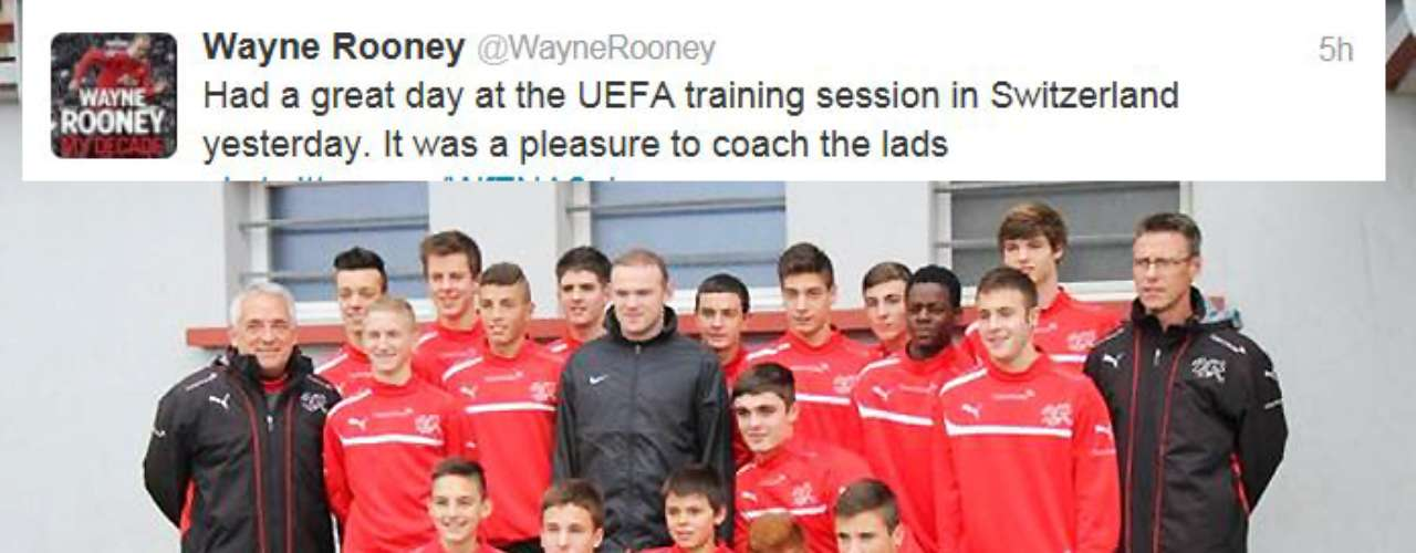Wayne Rooney had a good day venturing into a new field coaching a youth team in Switzerland.