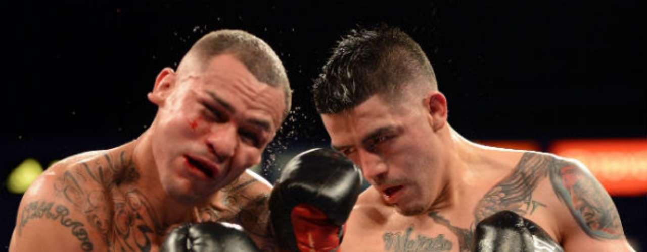 El 13 de octubre Brandon Rios (derecha) venció a Mike Alvarado por nocaut técnico en siete rounds, en lo que fue una espectacular pelea llena de acción en el Home Depot Center de Carson, California.