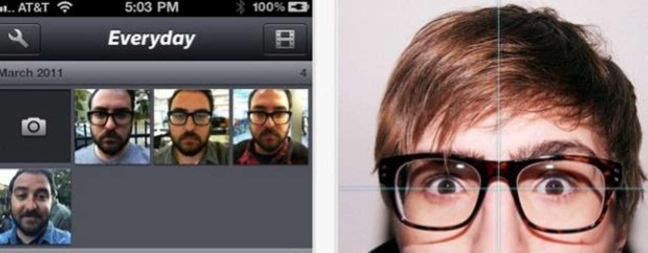Con el filtro Everyday, el usuario puede crear autorretratos diarios y, después, hacer un video-montaje con las imágenes.