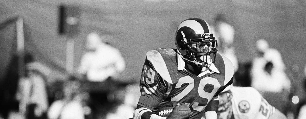 Eric Dickerson has the all-time record for yards in a season with 2,105 with the Los angeles Rams in 1984.