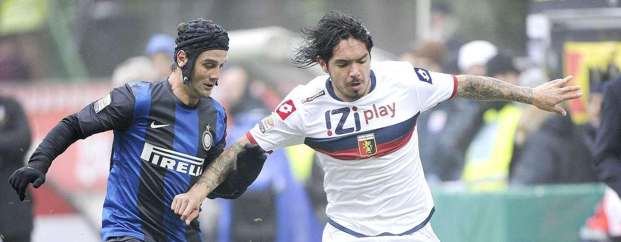 Inter let points slip away with a 1-1 draw against Genova to fall to fourth place.