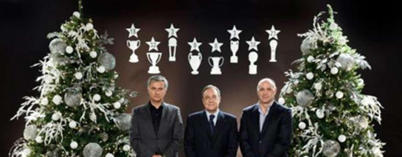 Los altos mandos del Real Madrid desean felices fiestas
