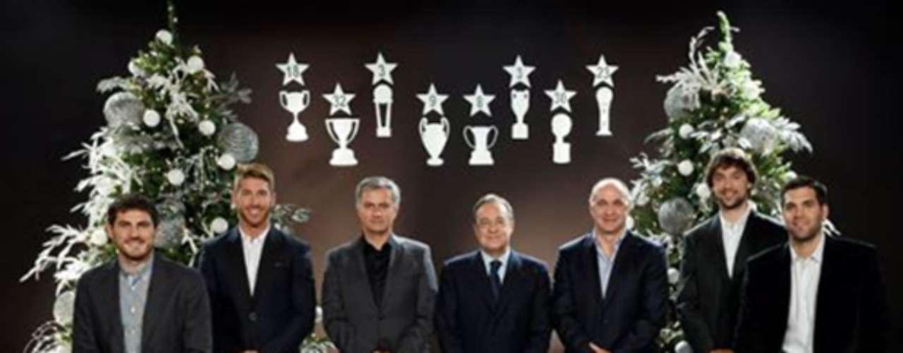Directivos, jugadores y cuerpo técnico del Real Madrid enviaronsus felicitaciones en Navidad