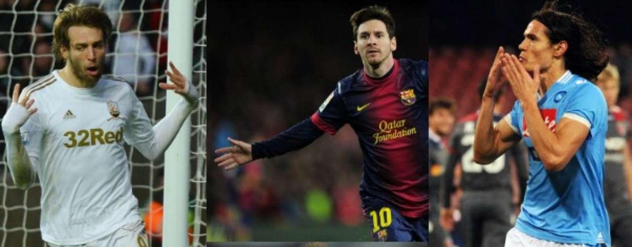 Lionel Messi encabeza a los mejores artilleros en lo que va de la temporada, aunque otros como el sorprendente Michu también se ganó su lugar en la lista.
