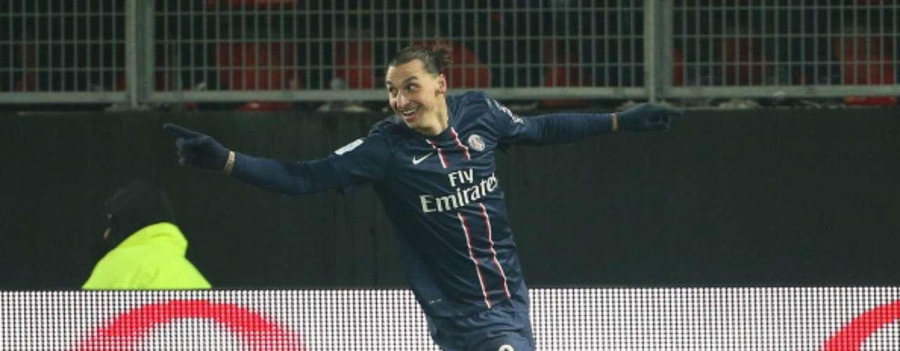 Zlatan Ibrahimovic no para de hacer goles con el PSG; registra 18 hasta el momento.