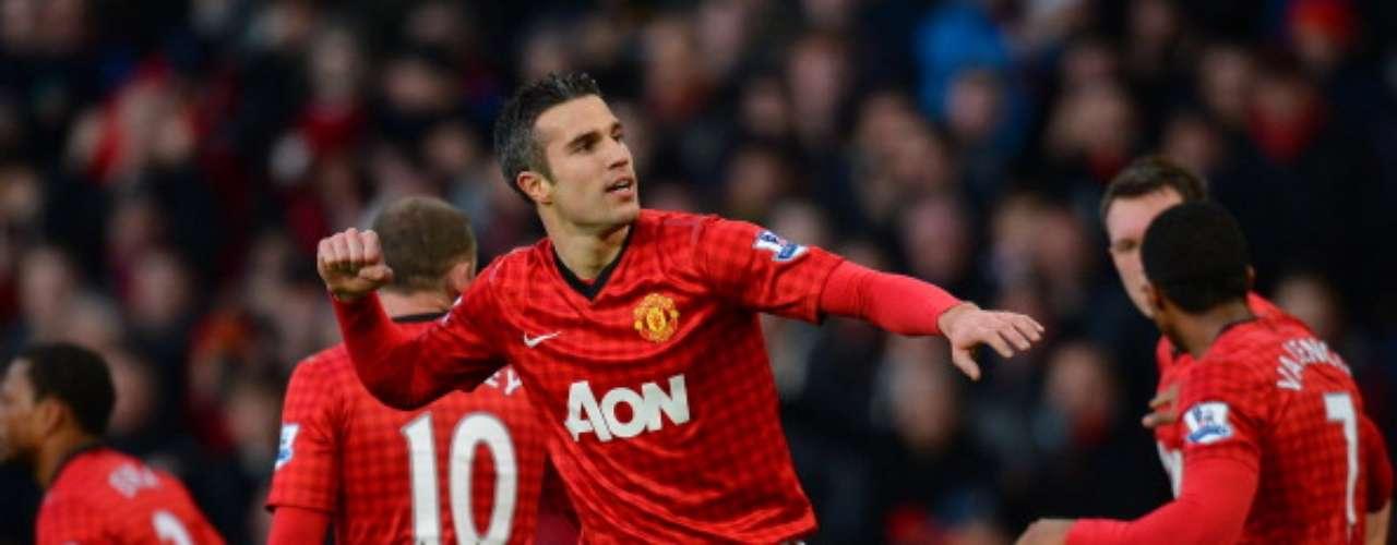 Robin van Persie ha aportado 12 tantos al Manchester United.