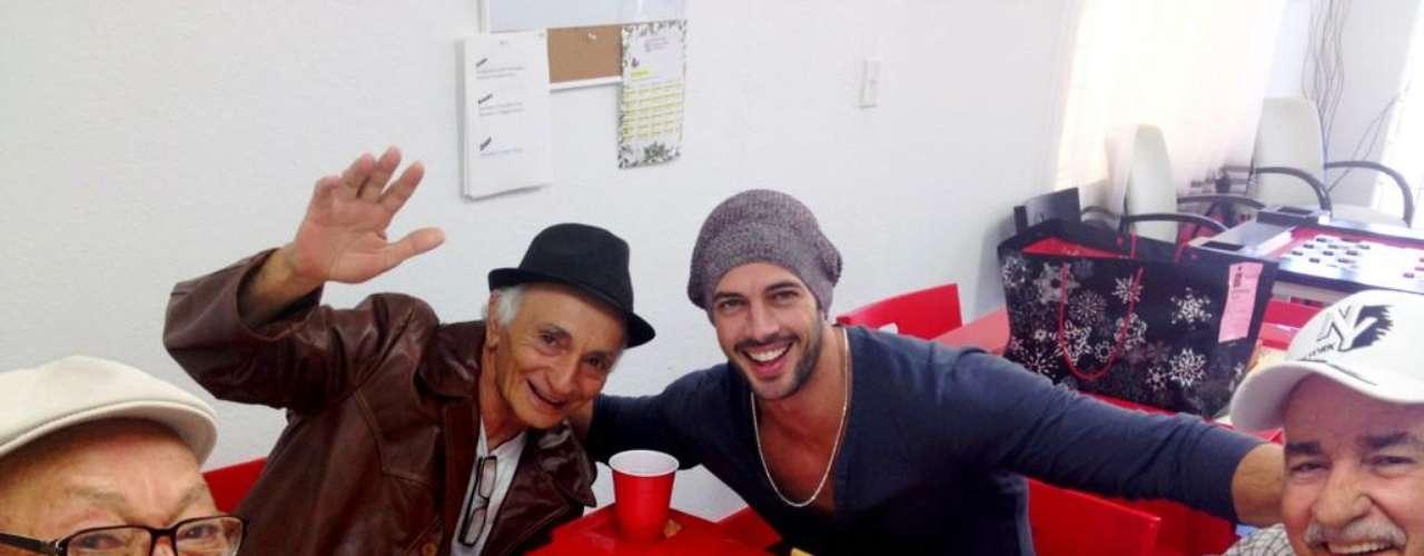 La sobrina de Emilio Estefan también se topó con el actor de la telenovelaTriunfo del Amor. \