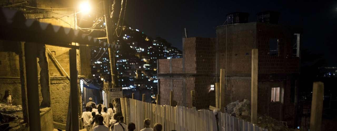 En algunas Fávelas, también iniciaron los festejos por la llegada del 2013.