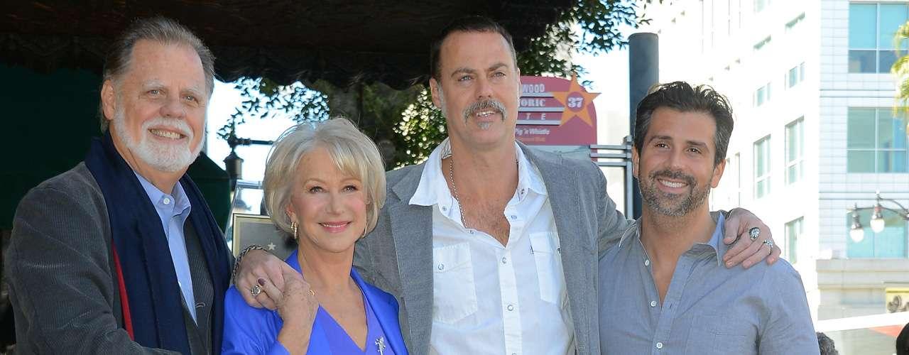 En el acto, la acompañó su marido, el director Taylor Hackford; además del dramaturgo y guionista David Mamet y el director Jon Turteltaub.