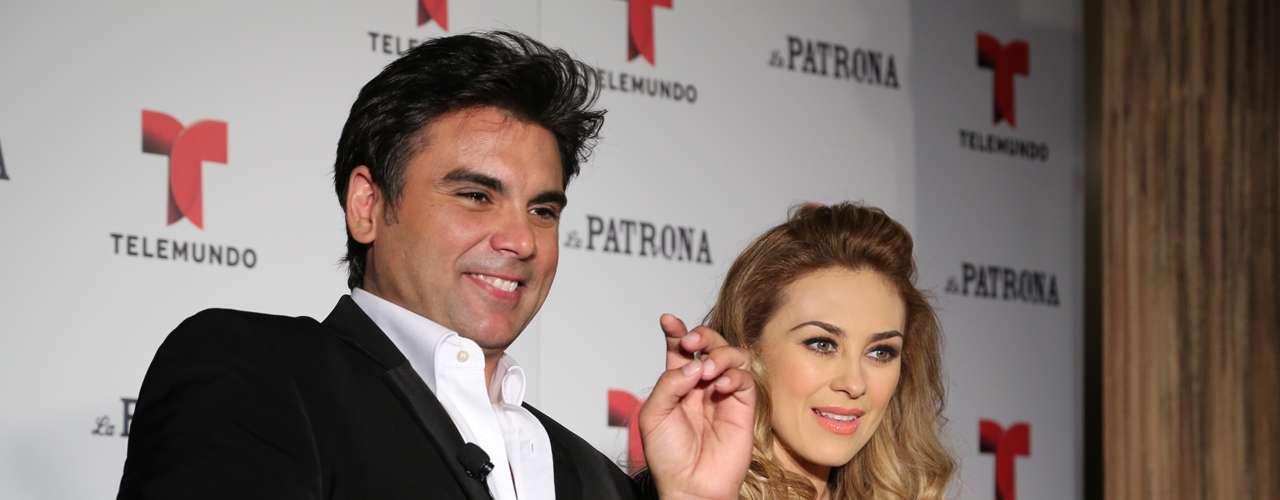 La expareja de Luis Miguel y el actor cubano platicaron con los diferentes medios de comunicación sobre los retos de sus personajes en la nueva producción de Telemundo.
