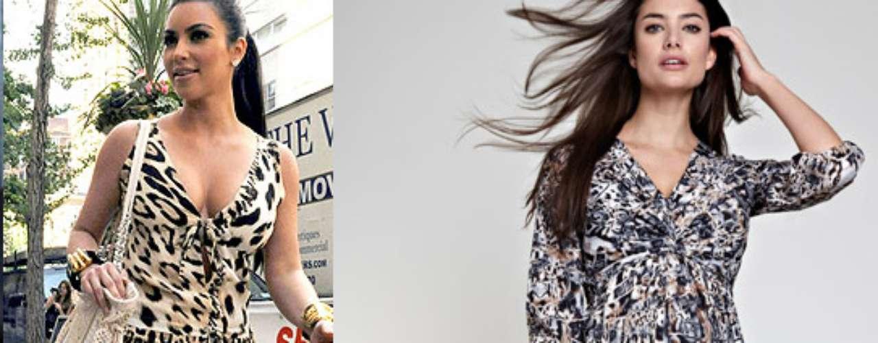 Maxi-dress: vestidos largos, con mucho estampado, también son parte del vestuario de Kim Kardashian y aquí le encontramos otro similar para embarazo de la colección de Isabella Oliver.