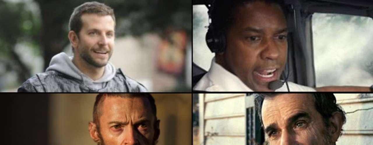 MEJOR ACTOR PROTAGÓNICO  (Izq. a der., arriba a abajo) Bradley Cooper (Silver Linings Playbook), Denzel Washington (Flight), Hugh Jackman (Les Misérables), Daniel Day-Lewis (Lincoln), Joaquin Phoenix (The Master).  PREDICCIÓN CARLOS MACÍAS: HUGH JACKMAN PREDICCIÓN ERNESTO SÁNCHEZ: DANIEL DAY-LEWIS  DEBERÍA GANAR: DANIEL DAY-LEWIS, ¿hay un mejor actor sobre la Tierra?