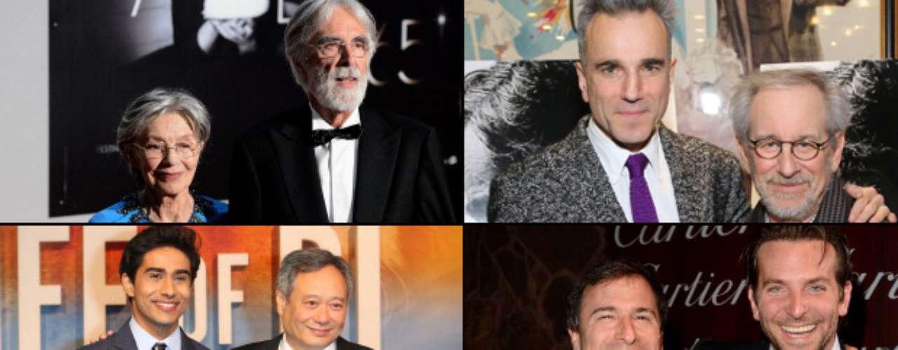 MEJOR DIRECTOR  (Izq. a der., arriba a abajo) Michael Haneke (Amour), Steven Spielberg (Lincoln), Ang Lee (Life Of Pi), David O Russell (Silver Linings Playbook), Behn Zeitlin (Beasts Of The Southern Wild).   PREDICCIÓN CARLOS MACÍAS: STEVEN SPIELBERG PREDICCIÓN ERNESTO SÁNCHEZ: STEVEN SPIELBERG  DEBERÍA GANAR: QUENTIN TARANTINO O PT ANDERSON, pero ni nominados están. Entonces, ¿quién dirigió las espectaculares actuaciones de Di Caprio y Waltz e hizo una película tan cool como Django Unchained? y ¿quién logró sacar lo mejor de Joaquin Phoenix y Amy Adams en verdadero filme de autor como The Master?