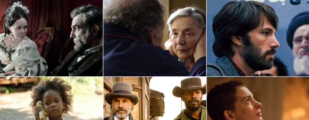 MEJOR PELÍCULA  (Izq. a der., arriba a abajo) Lincoln, Amour, Argo, Beasts Of Southern Wild, Django Unchained, Les Misérables, Life Of Pi, Silver Linings Playbook, Zero Dark Thirty.  PREDICCIÓN CARLOS MACÍAS: LINCOLN PREDICCIÓN ERNESTO SÁNCHEZ: LINCOLN  DEBERÍA GANAR: LIFE OF PI, un filme inteligente que nos hace reflexionar, emocionarnos y experimentar miles de emociones con el mejor uso de 3D posible.