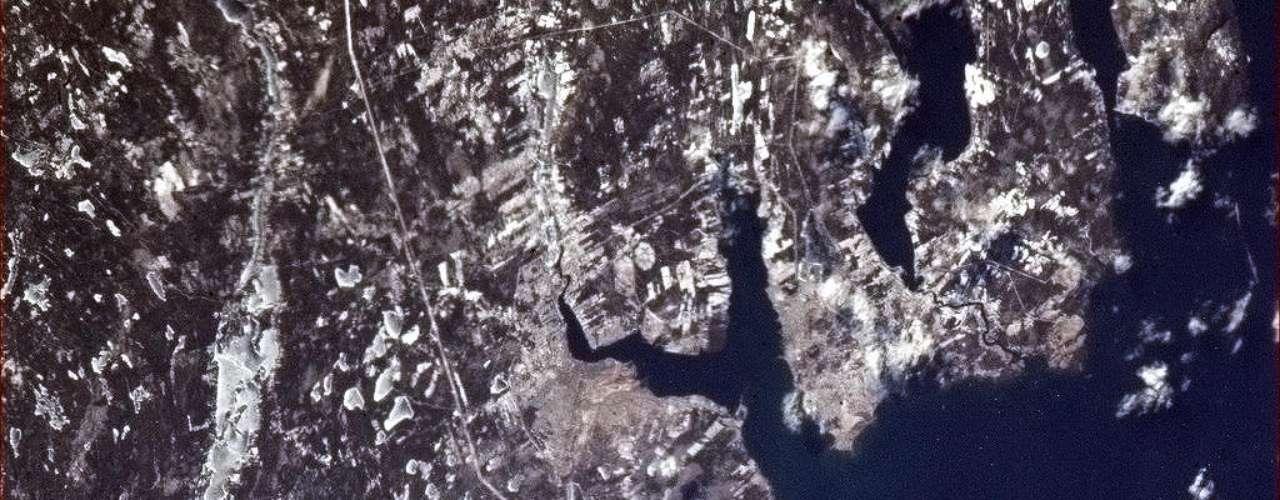 Sydney, Nova Scotia, en un día claro de invierno. 9 de enero de 2013.