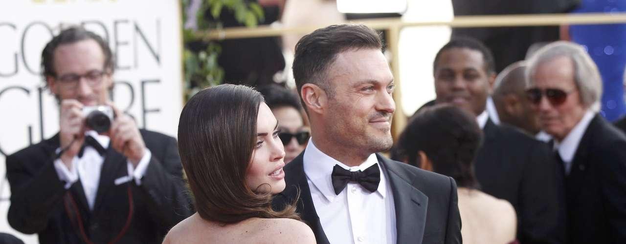 Brian Austin Green y Megan Fox son de las parejas más sexys en la alfombra roja de los Golden Globes