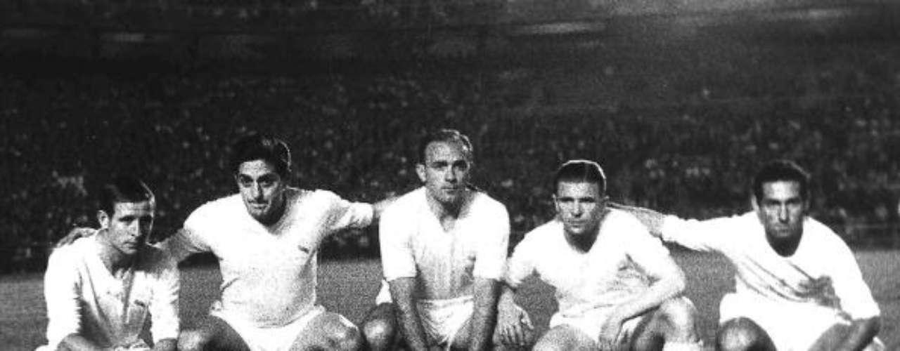 Raymond Kopa, Héctor Rial, Aldfredo Di Stéfano, Ferenc Puskas y Paco Gento, hicieron del Madrid un equipo de miedo que concluyó con la quinta Copa de Europa