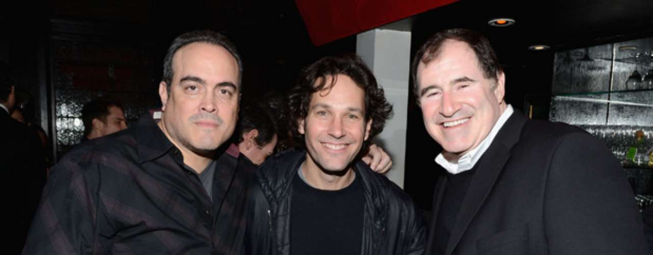 Here's a shot of David Zayas, Paul Rudd and Richard Kind having fun at the event.