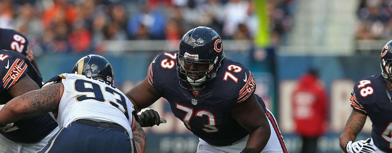 J'Marcus Webb (Bears): Webb ha comenzado 44 de 46 juegos de la NFLcon 151,953 kilos.