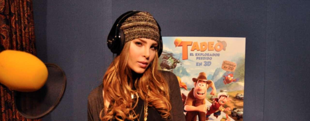 Belinda presta su voz para la película 'Tadeo, el explorador perdido' en donde interpreta a la arqueóloga Sara Lavrof