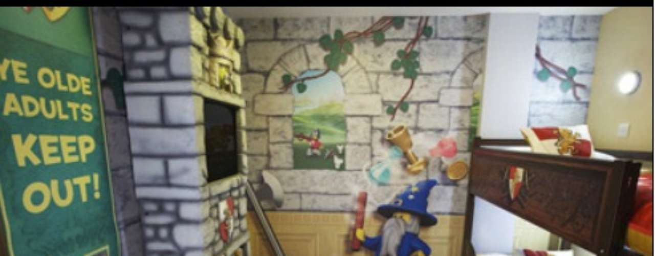 La magia de lego está presente en cada cuarto del hotel.