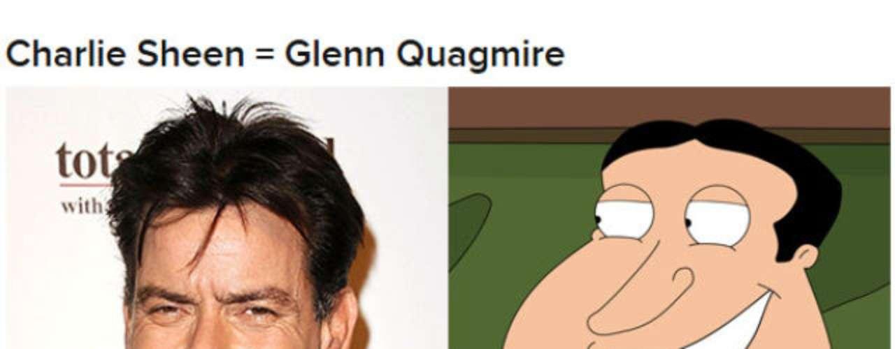 Charlie Sheen es calcado a Quagmire de \
