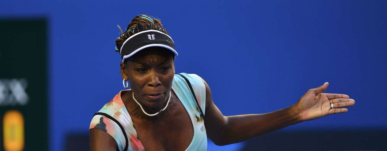 Williams could not handle the pace of Sharapova's groundstrokes. REUTERS/Toby Melville (AUSTRALIA - Tags: SPORT TENNIS)