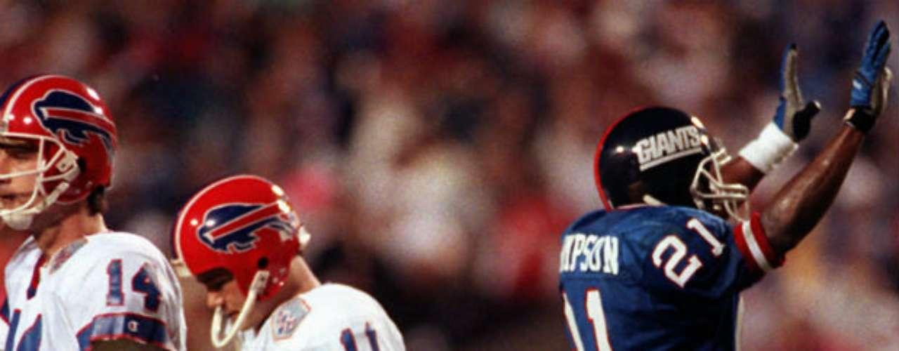 Buffalo Bills perdería su primero de cuatro Super Bowls seguidos a manos de New York Giants que se impuso 20-19 en la edición XXV.